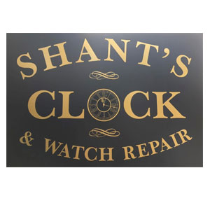 Shants Clock and Watch Repair logo