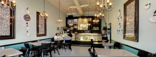 Aux Delices Bakery Cafe interior