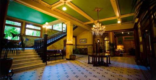 Castle Green historic interior lobby