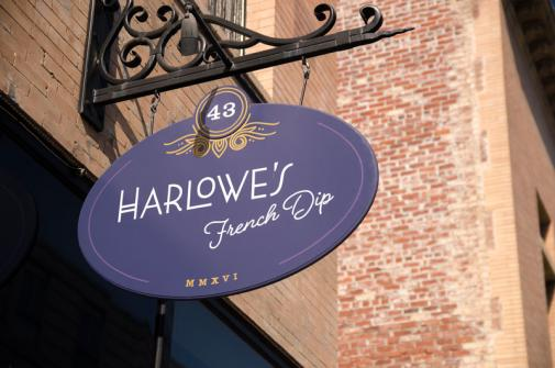 Harlowe's French Dip exterior sign