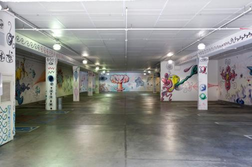 Pasadena Museum of CA Art - Kenny Scharf garage