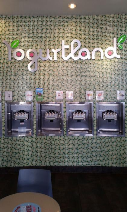 Yogurtland interior