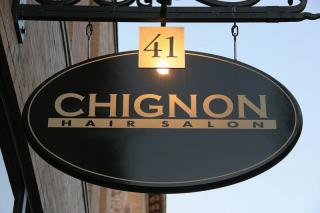 Chignon Hair Salon signage