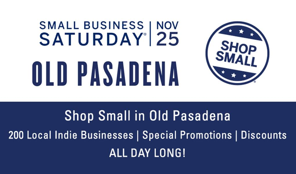 Shop Small in Old Pasadena