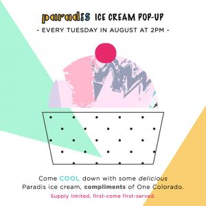 Paradise Ice Cream Pop-Up, Tuesday, August 1, 2017