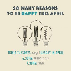 Trivia Tuesdays at One Colorado, Tuesday, April 2, 2019