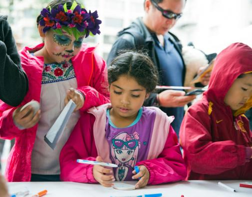 2016 Day of the Dead - craft tables