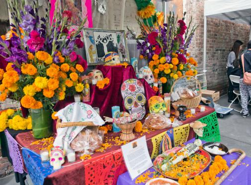 2016 Day of the Dead - Community Altar to Rocky Behr, The Folk Tree