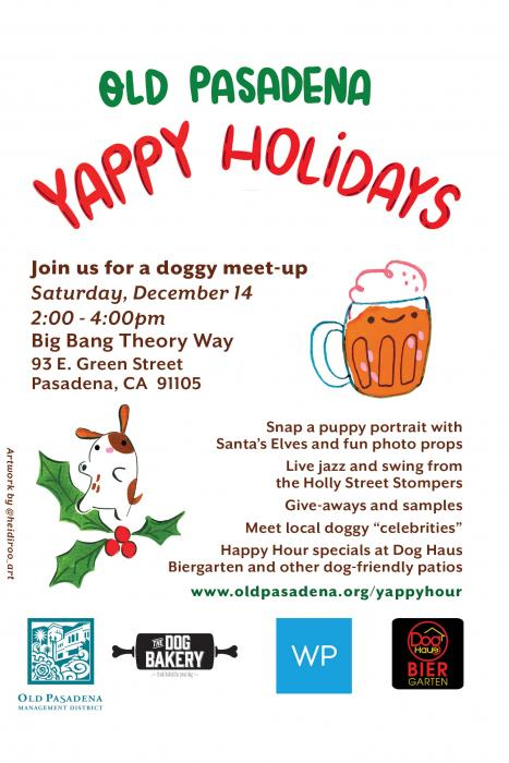 Old Pasadena Yappy Holidays, December 14, 2019