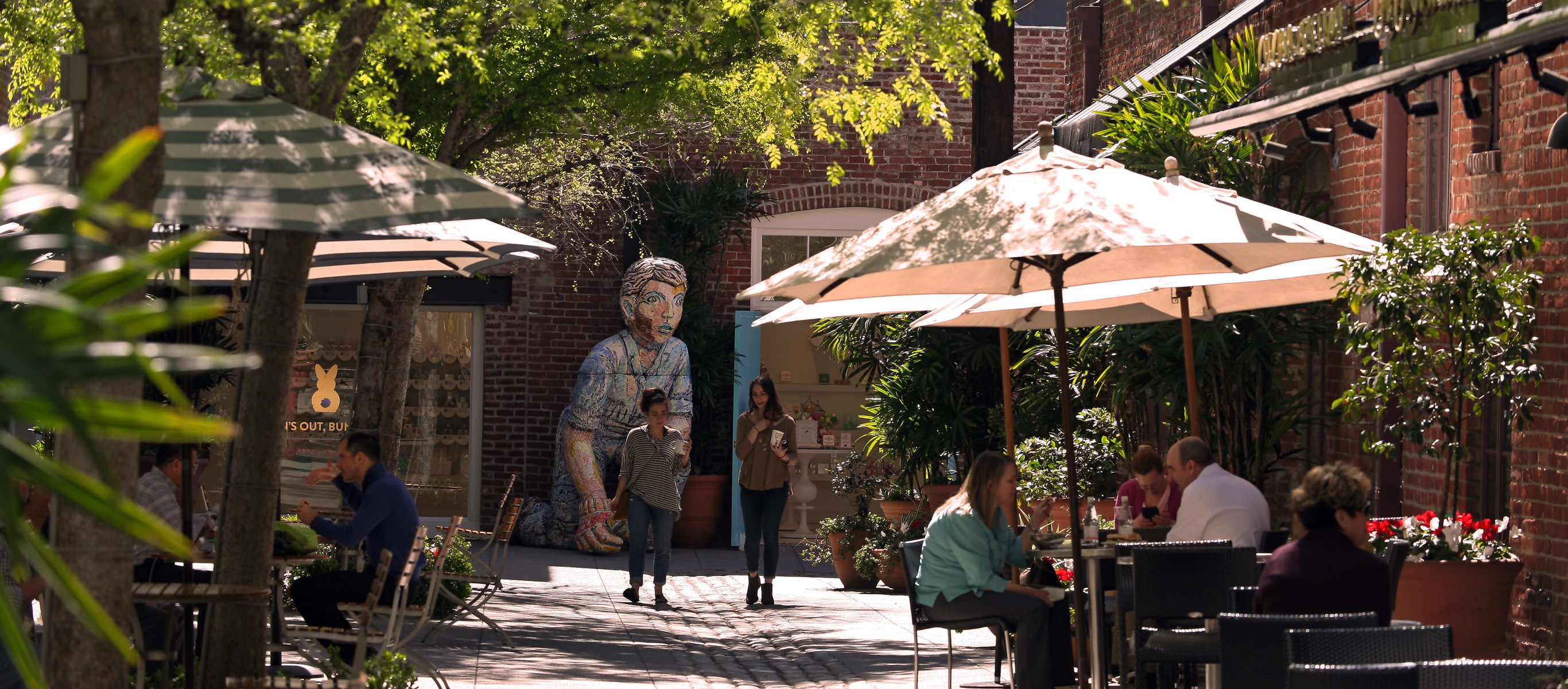 Stroll tree-lined sidewalks and quaint alleyways spanning 22 historic blocks